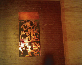 Toner transfer on copper clad
