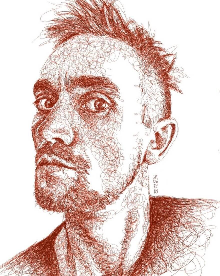 12-Paolo-Jennifer-Ackerman-Digital-Art-Scribble-Drawing-Portraits-www-designstack-co
