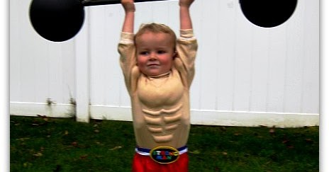 Tryitmom An Easier Diy Toddler Strong Man Costume