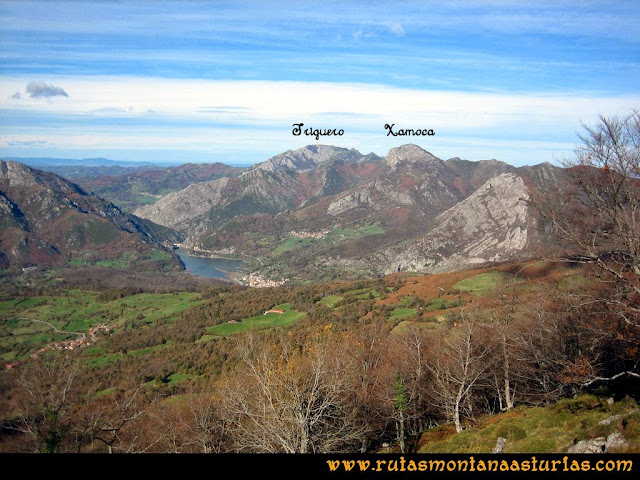 Ruta Cuyargayos: Vista de la Xamoca y Trigueros