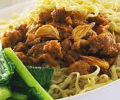 Resep makanan indonesia mie ayam spesial (istimewa) praktis mudah sedap, nikmat, enak, gurih lezat