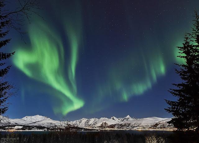 Aurora Boreal en Tromsø, Noruega por Monica Poza