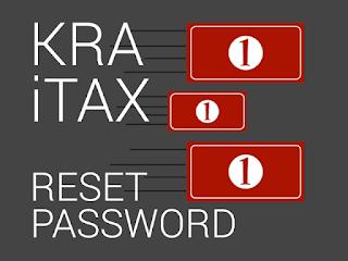 reset kra itax password