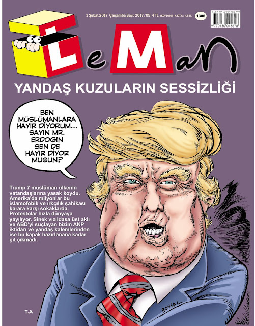 donald trump karikatür
