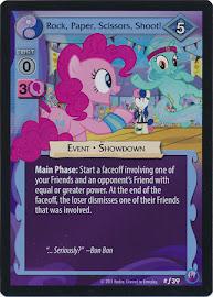 My Little Pony Rock, Paper, Scissors, Shoot! Canterlot Nights CCG Card