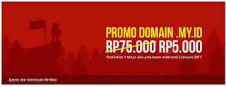 Promo domain my.id Rp5.000