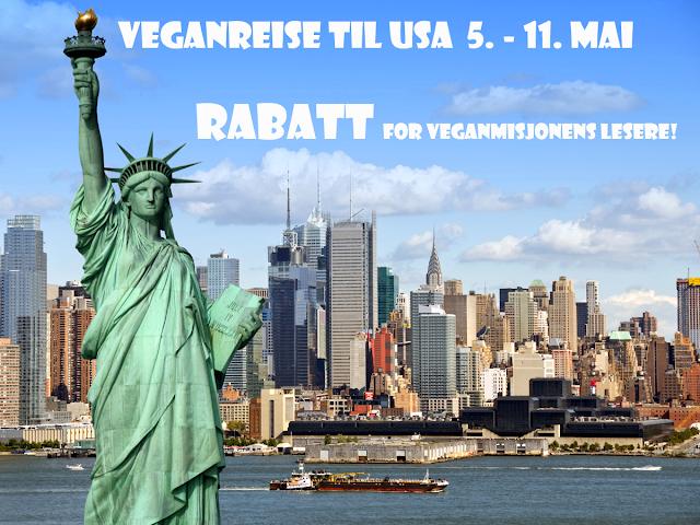 Veganreise USA New York Veganmannen Rabatt Påmelding