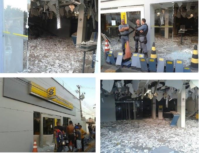 Criminosos explodem agência bancária em Caxias, MA