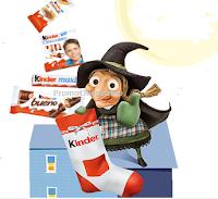 Logo Con la Miniriffa dell'Epifania con Kinder vinci buoni acquisto e Maxi calze