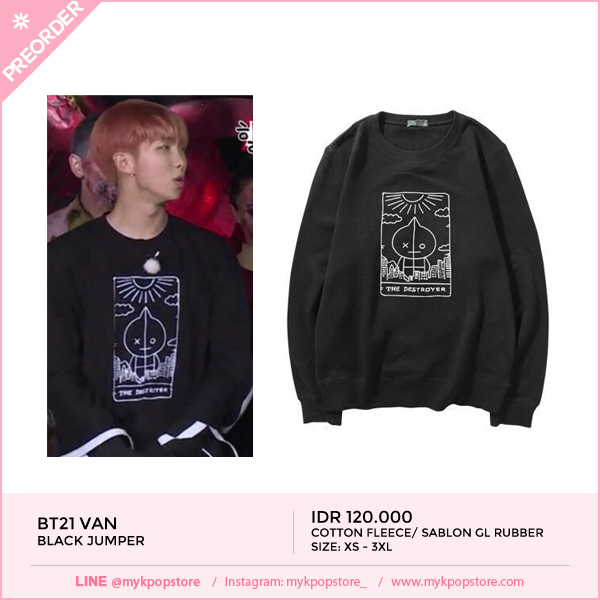 BT21 Van Black Jumper