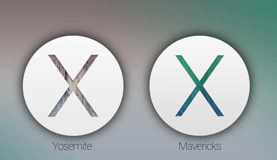 Visual Comparison of Mac OS X Yosemite vs. OS X Mavericks Features, Icons, UI Elements, Functionality
