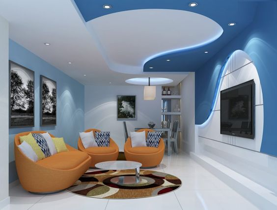 Latest Trends In Modern Living Room Wall Paint Colors 2019