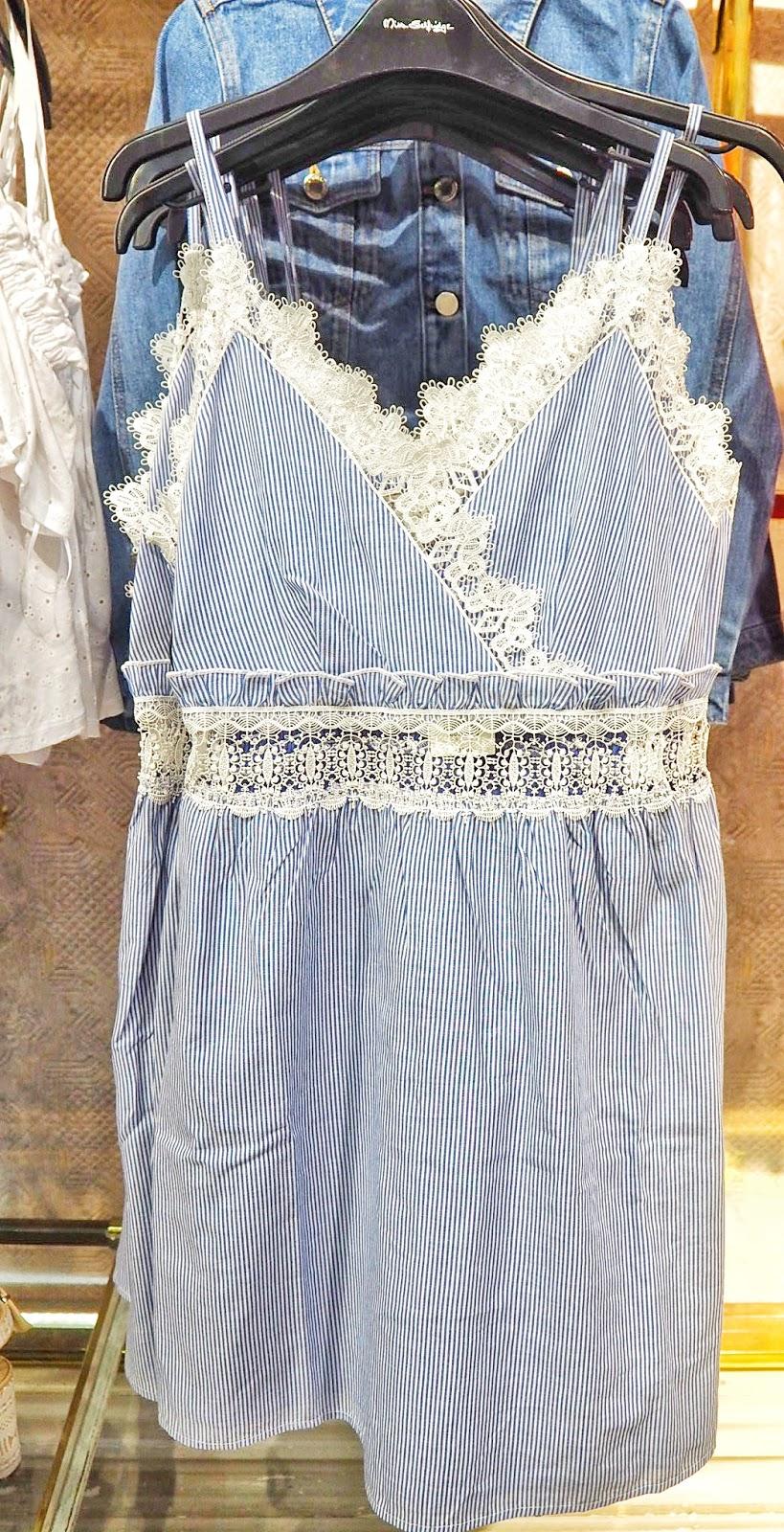 Miss Selfridge Stripe Lace Sundress