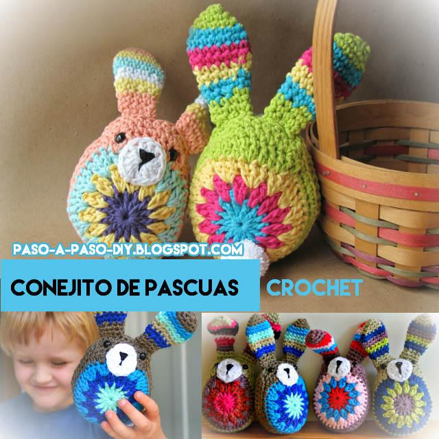 tutorial en fotos de conejo crochet fácil