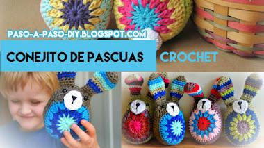 Cómo tejer conejo de pascuas al crochet / DIY