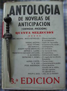 Portada del libro Antología de novelas de anticipación. Quinta selección, de varios autores
