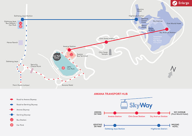 Genting Highlands Awana Skyway Map Linemap Guide