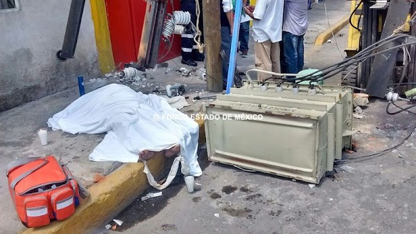 Mujer muere al caerle transformador en la cabeza durante sismo en Ecatepec