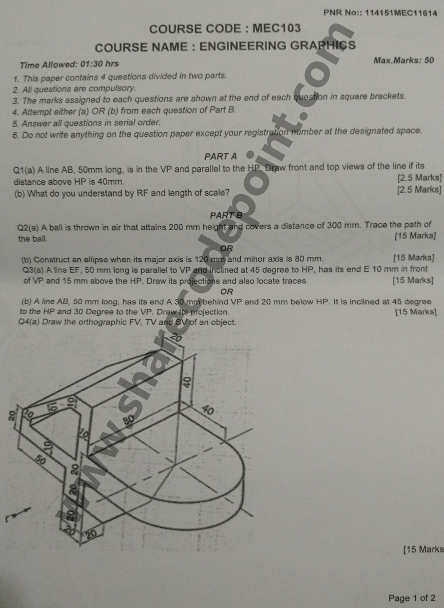 Mec103 engineering graphics mid term exam question paper mec 103 an engineering drawing a type of technical drawing is used to fully and clearly define requirements for engineered items wikipedia malvernweather Choice Image