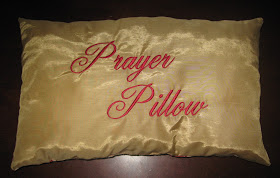 ribbons and rope prayer pillows