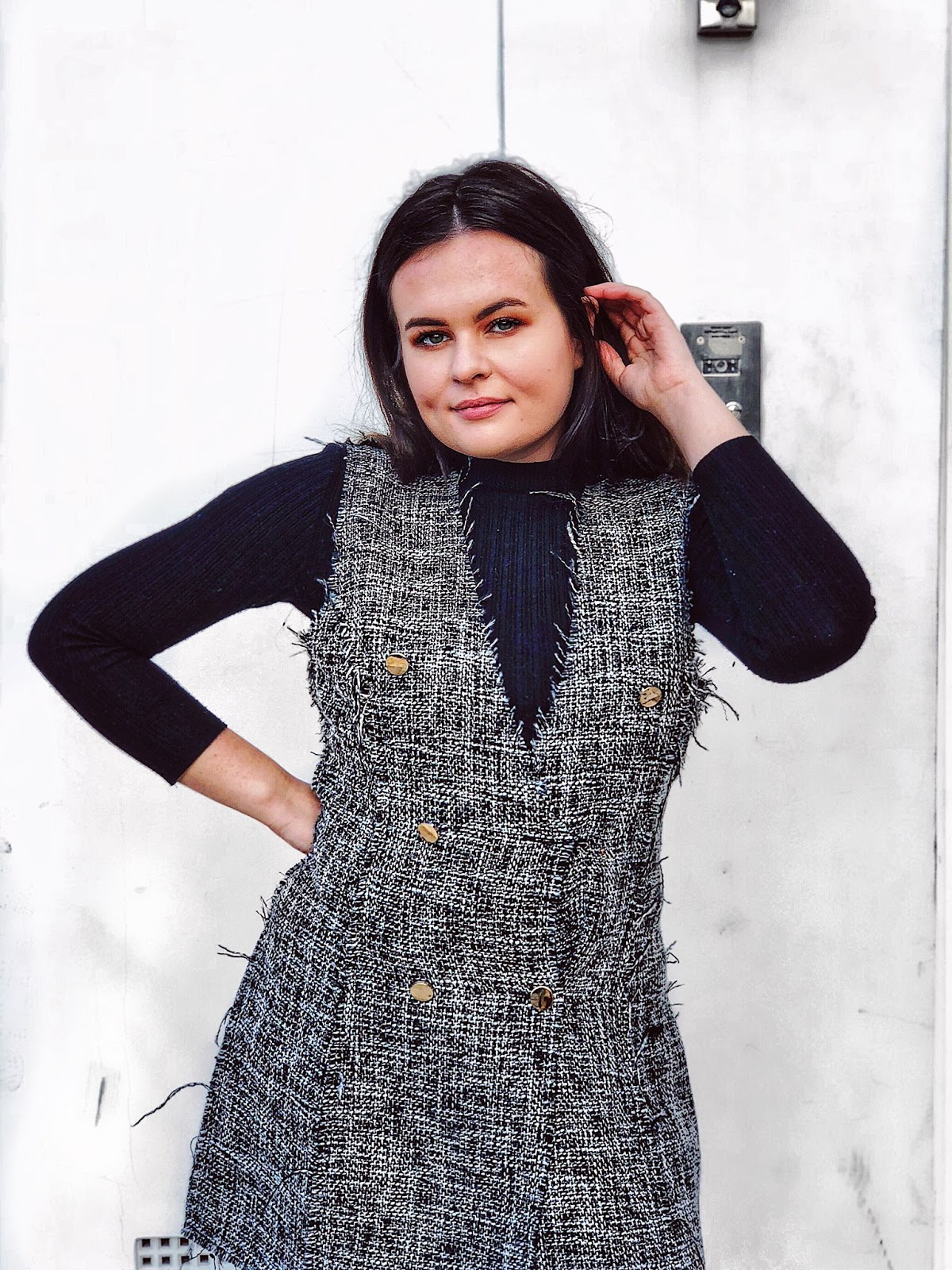 feeling lost, mid twenties I don't know what I'm doing with my life, mental health, twenties problems, i saw it first review, chanel replica tweed, tweed blazer dress