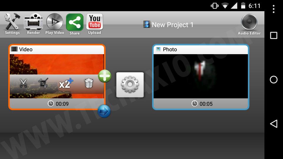 Andromedia Video Editor Screenshot