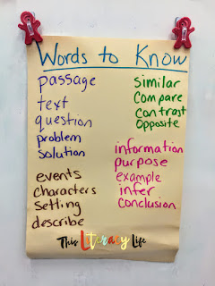 Academic vocabulary really helps students as they read tests and test questions. This will help them as they prepare for the upcoming state assessments.
