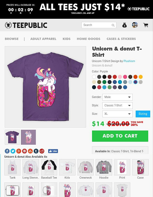 https://www.teepublic.com/t-shirt/1391466-unicorn-and-donut