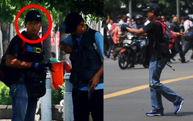 Ini Foto Aksi Pelaku Teror Bom Dan Baku Tembak Di Sarinah
