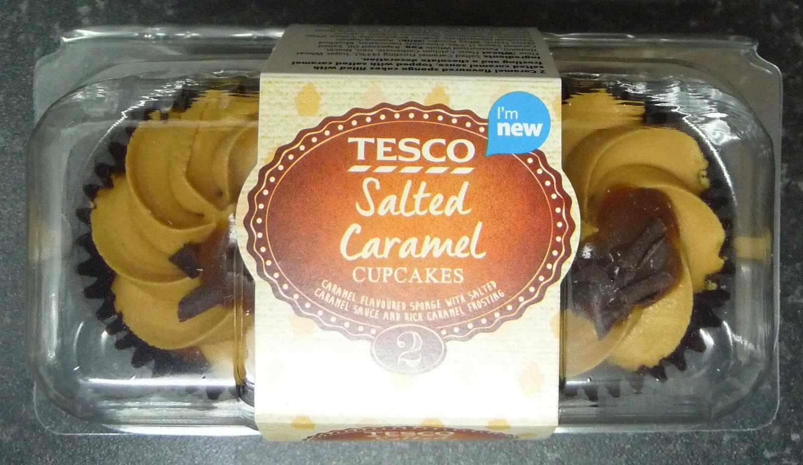 Something To Look Forward To: Tesco Cupcakes: Salted Caramel