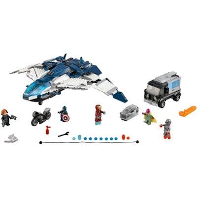 LEGO Marvel Heros Quinjet Chase Set