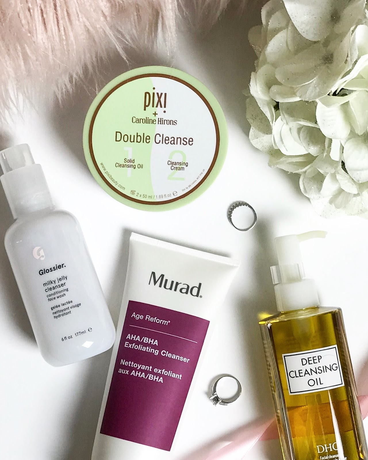 four cleansers i'm currently loving blog post
