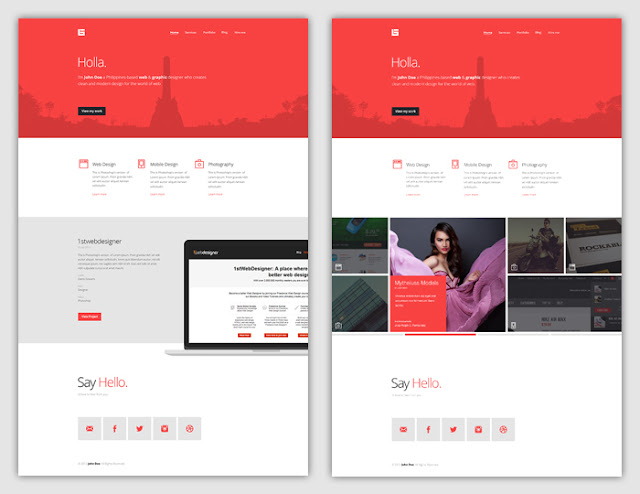 Flat Web Design Tutorial – Portfolio Landing Page [FREE Download]