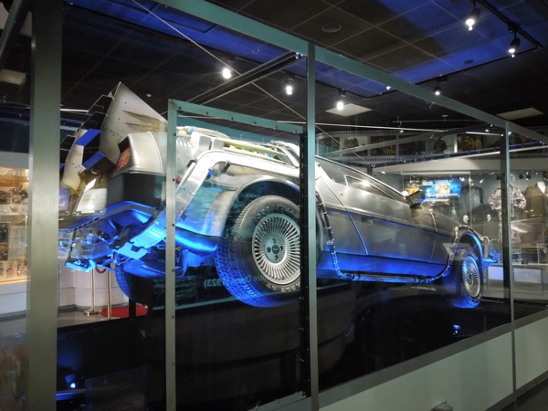 Back to the Future DeLorean Time Machine exhibit