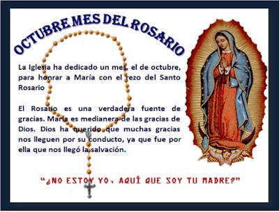 Resultado de imagen para portadas de octubre mes del santo rosario