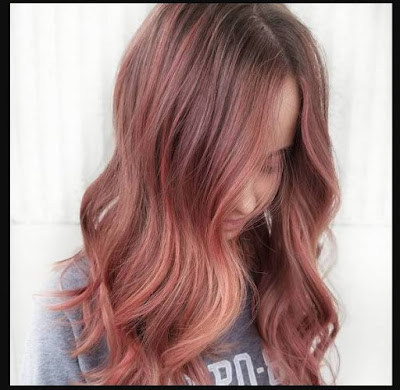 Rose-Gold-For-Brown-Hair-Coral-Rose