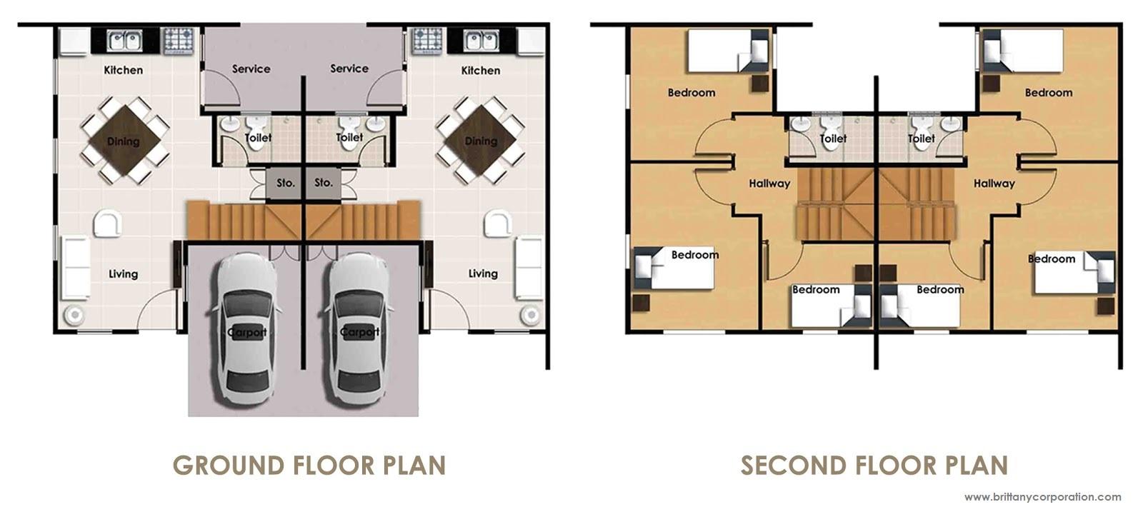 Floor Plan of Felicity Lane Model - Augusta | House and Lot for Sale Santa Rosa Laguna