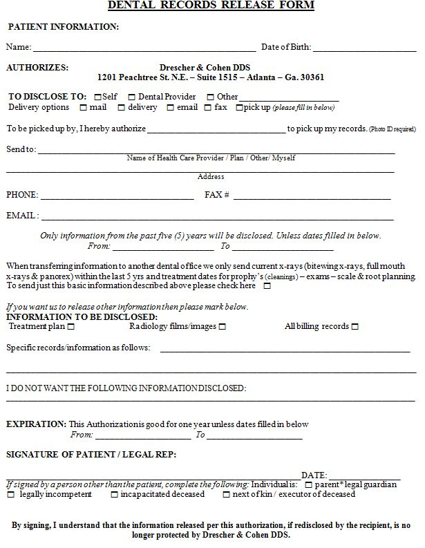 Financial Release Form Illinois Medical Release Form  Illinois