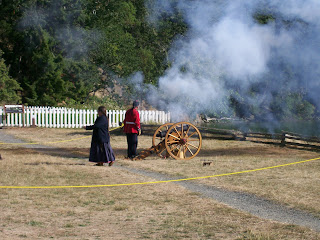 Cannon firing demo at San Juan 2016 Pig War Reenactment