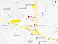 Peta lokasi Titik Jemput Penumpang Ojek Online Gojek-Grab di Terminal Jombor Sleman Yogyakarta