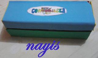 caja para guardar las fichas y tarjetas del juego didactico de contabilidad
