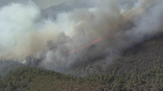 The Cedar Fire (Source: KPHO/KTVK)