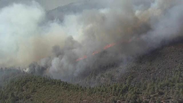 The Cedar Fire (Source: KPHO/KTVK)