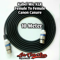 Kabel Mic XLR 10 Meter Female to Female Jack Canon Canare