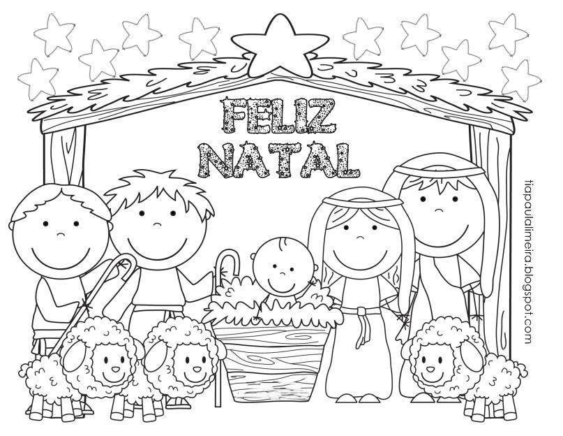 Tia Paula: Desenhos De Natal Para Colorir