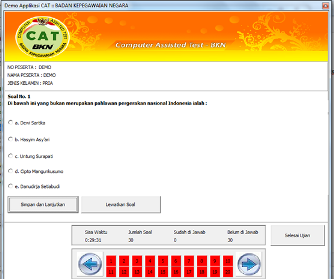 Download Software Simulasi CPNS CAT (Computer Assisted Test)