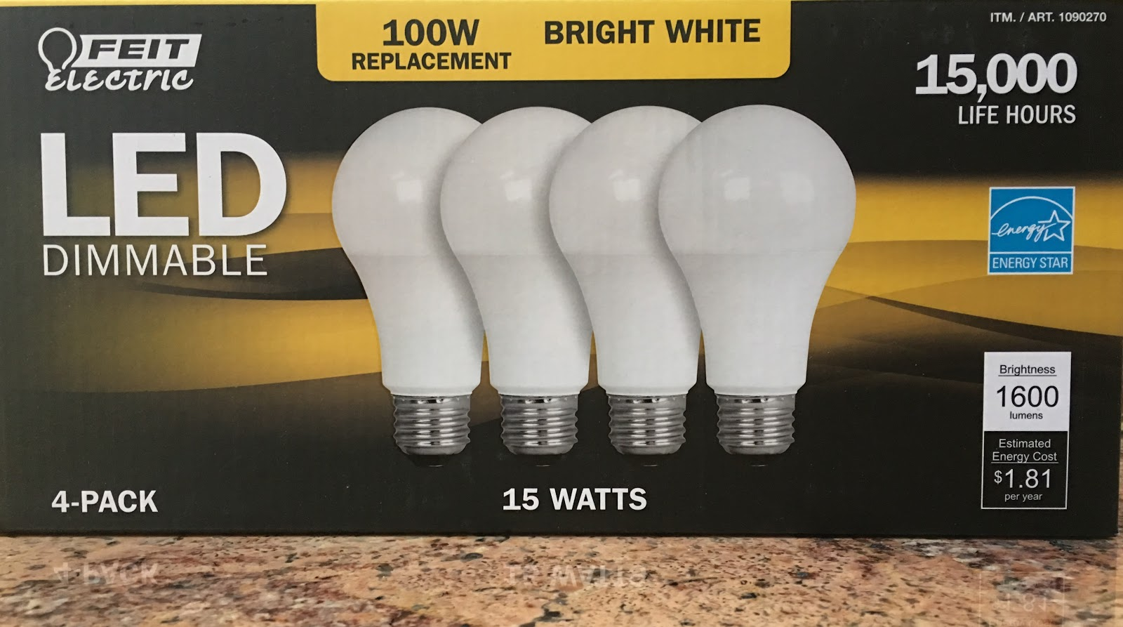 Exceptional At Costco Wholesale In Teterboro On Friday The 13th, A Surprise $15 Rebate  On Feit Electric LED Bulbs Brought The Price Down To $1.99 Or About 50  Cents Per ... Pictures