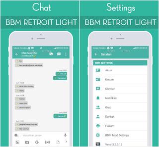 BBM MOD RETROIT LIGHT v3.2.5.12 APK [Update 2017] Gratis