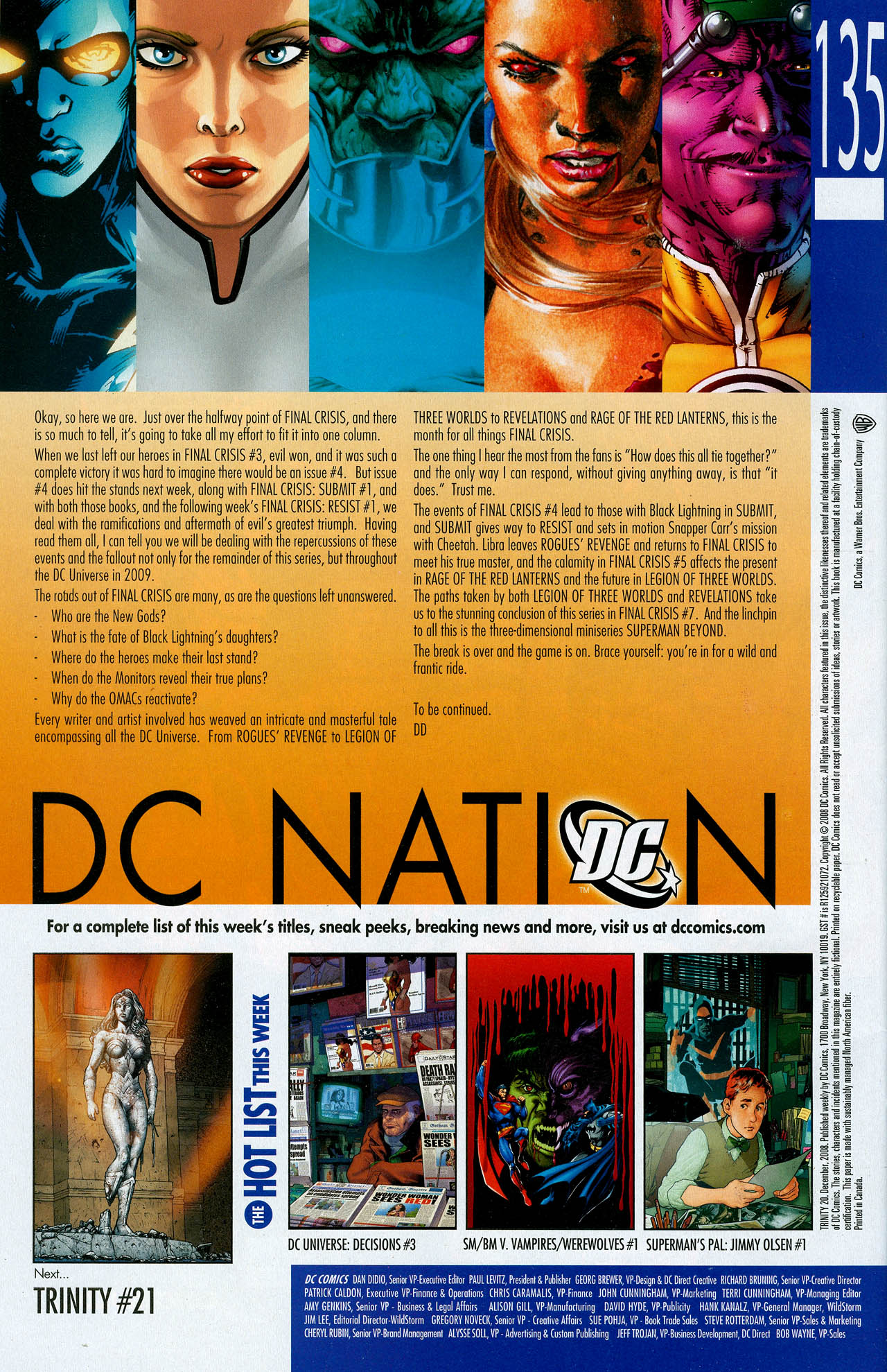 Read online Trinity (2008) comic -  Issue #20 - 34