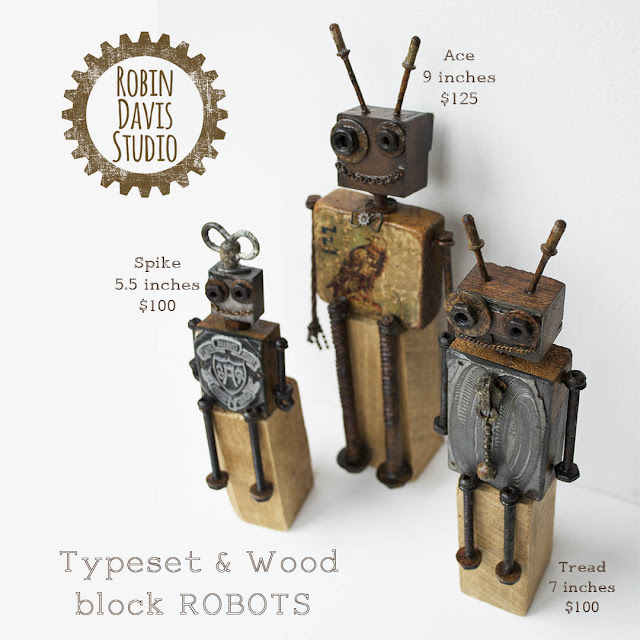 Robot Art Pieces by Robin Davis Studio